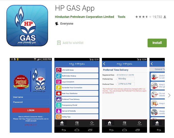 Download HP GAS App - Google Play Store