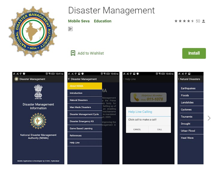 Mobile Applications for Disaster Management (Apps)