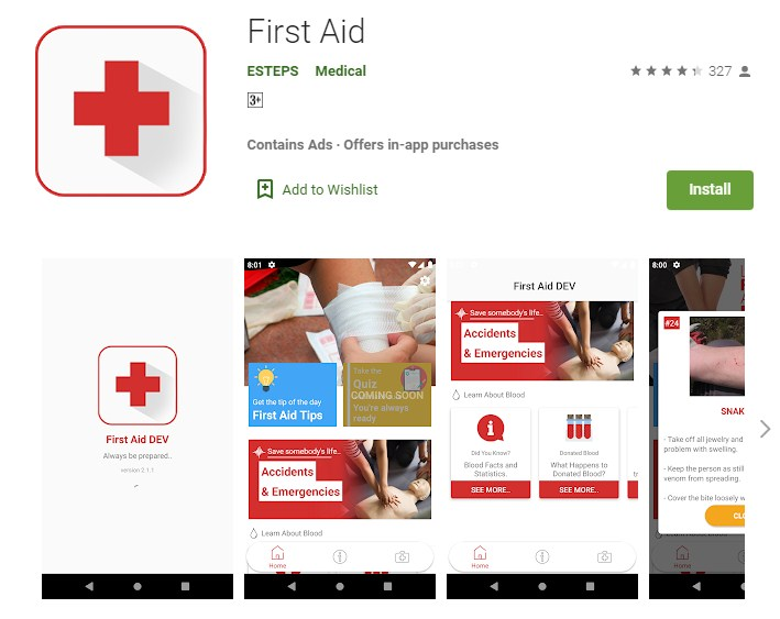 Google Play Store - First Aid App