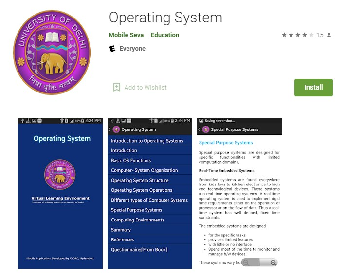 Operating System App - Google Play Store
